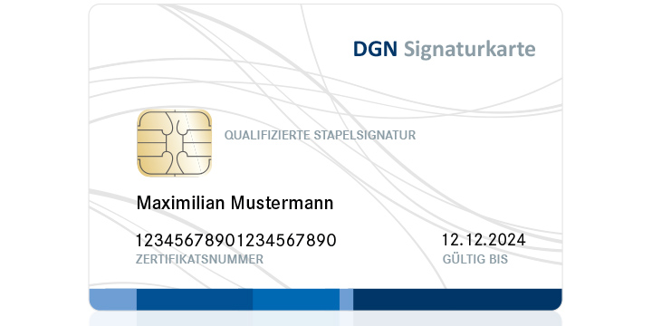 DGN Signaturkarte