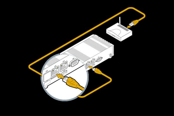 DGN GUSbox M2 Installation: Mit Router verbinden