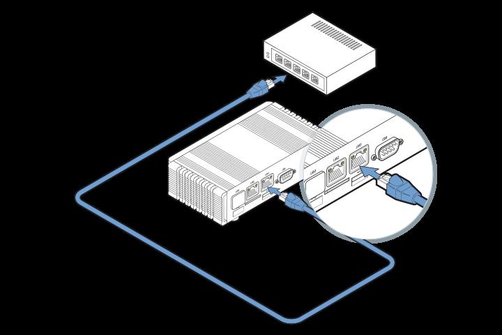 DGN GUSbox M2 Installation: Mit dem Netzwerk verbinden