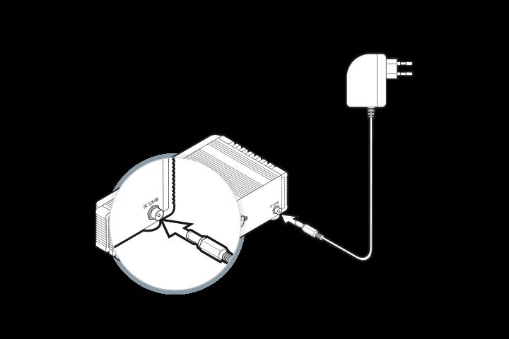 DGN GUSbox M2 Installation: Am Strom anschließen