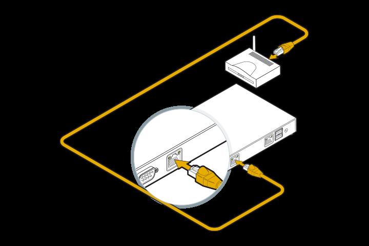 DGN GUSbox S Installation: Mit Router verbinden