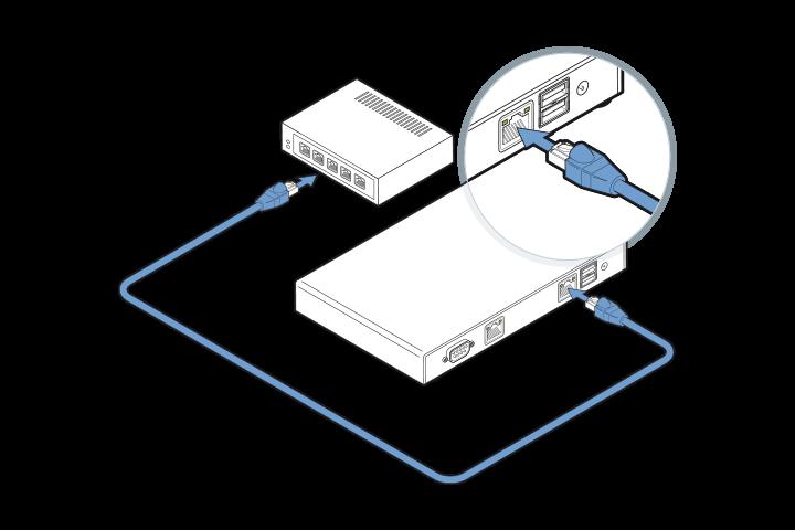 DGN GUSbox S Installation: Mit dem Netzwerk verbinden