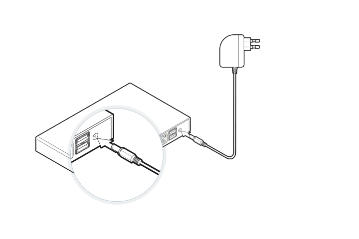 DGN GUSbox S Installation: Am Strom anschließen