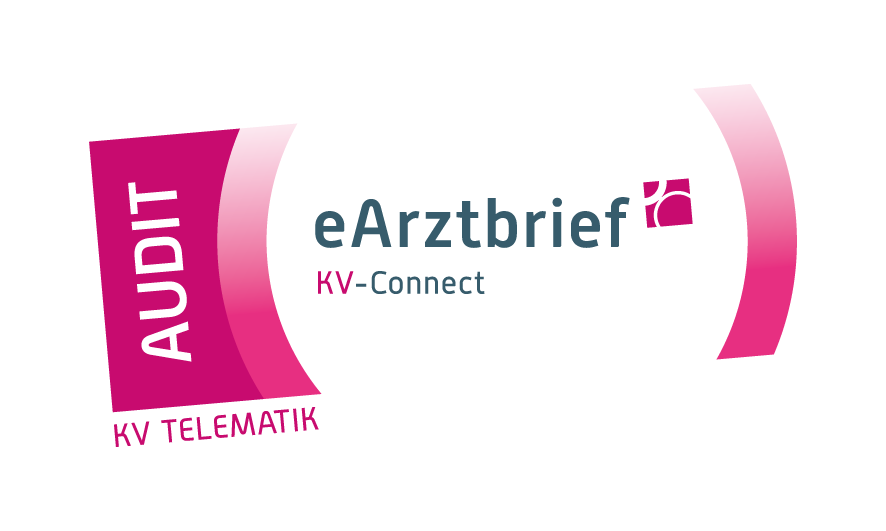Logo Audit eArztbrief mit KV-Connect