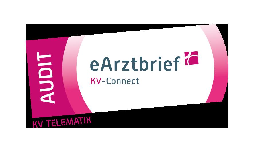 Logo Audit eArztbrief mit KV-Connect