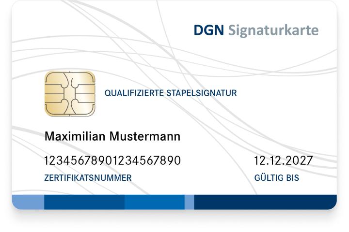Die DGN Signaturkarte für die qualifizierte elektronische Signatur