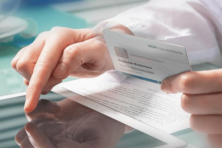 DGN Signaturkarte für Kartenlesegerät